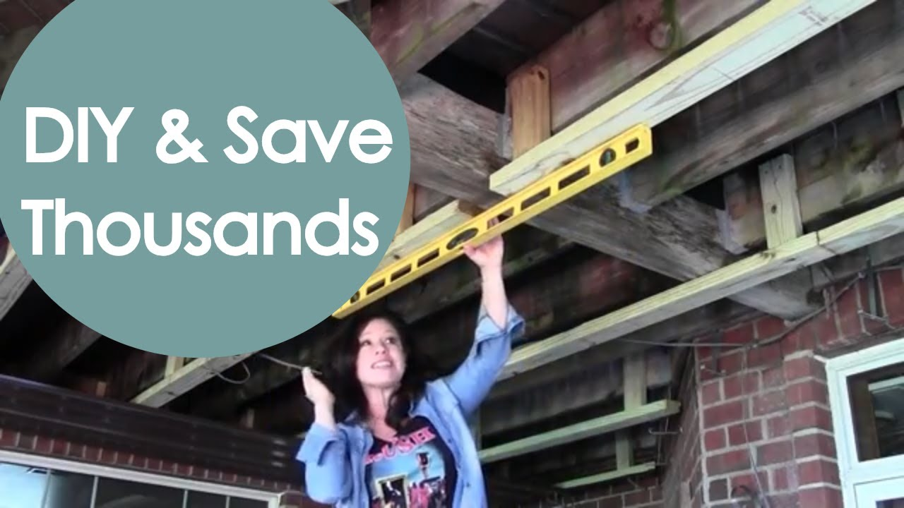 diy under deck roof and drainage part 1 renee romeo