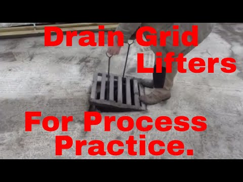 Drain Grid Lifters For Process Practice.