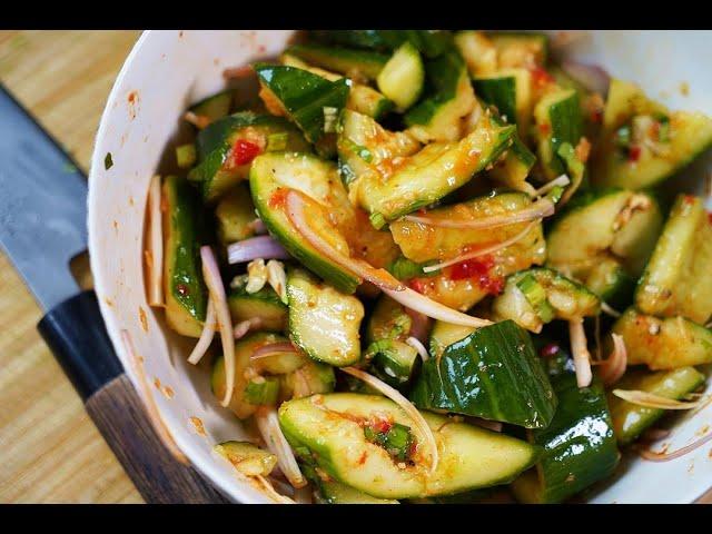 Smashed Cucumber Chow #TastyTuesdays | CaribbeanPot.com
