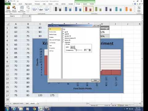 how to find midpoint on histogram excel