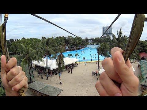 Zip Line Ride at Splash Island