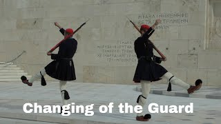 Changing the Guard ceremony in Athens, Greece