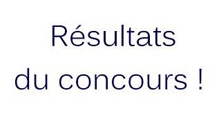 Résultats du Concours ! Thumbnail