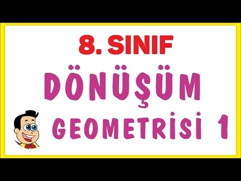 8. Sınıf Dönüşüm Geometrisi 1 Şenol Hoca Matematik