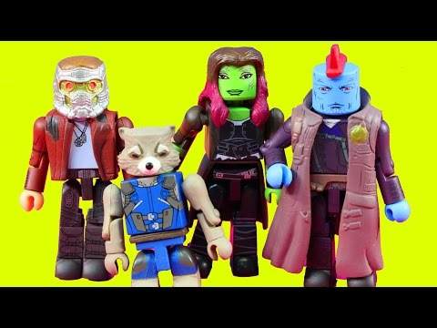 Marvel Minimates guardians of the galaxy vol. 2 With Rocket Groot And Jessica Jones 4 Pack