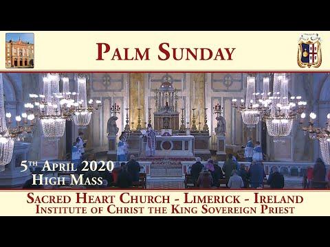 Palm Sunday - 5th April 2020 - Sacred Heart Church - Limerick - Traditional Latin Mass