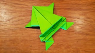 How To Make a Paper Jumping Frog - Fun \u0026 Easy Origami