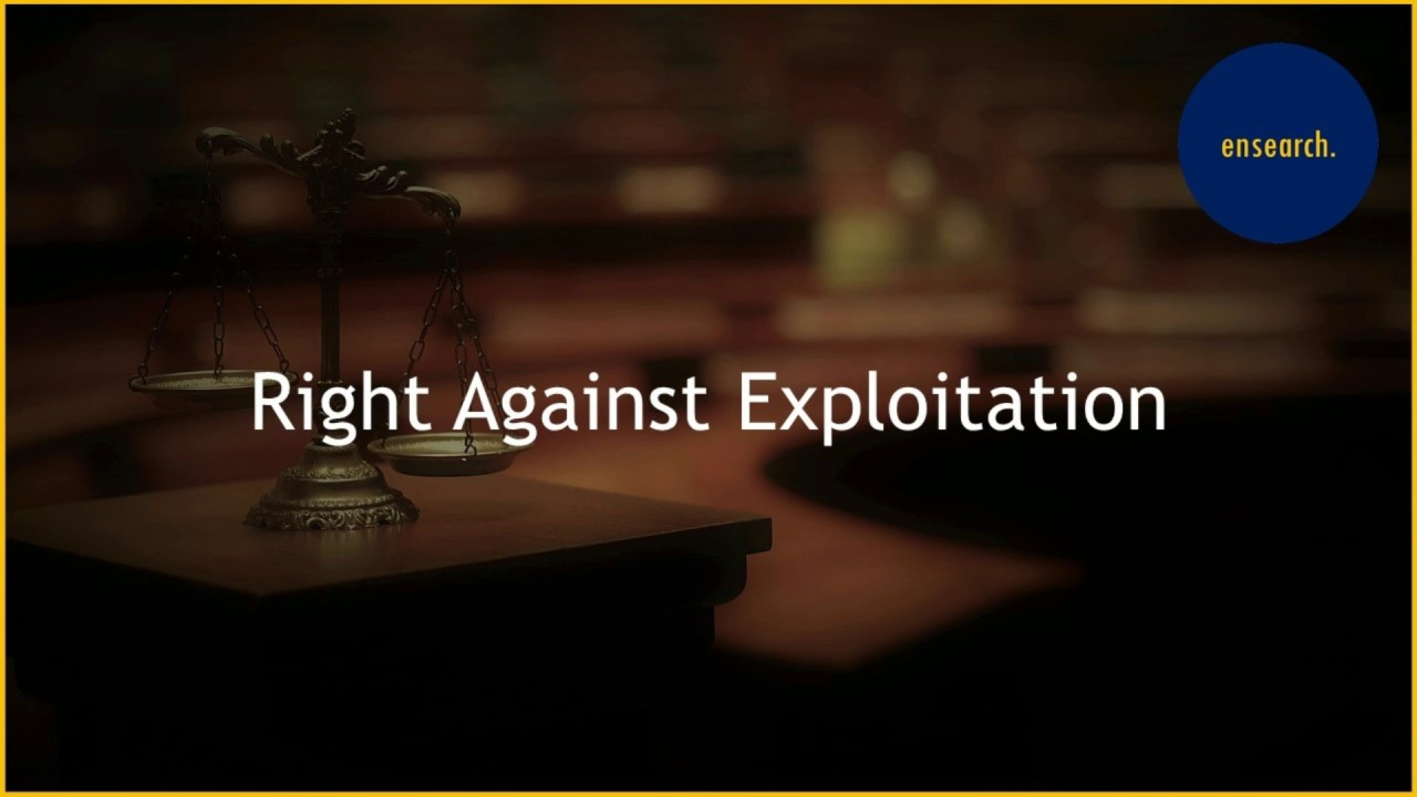 rights against expliotation November 1996 exploitation of children - case studies [shri mahant tiwari, president of rachnatmak sambhav sackshik anusandhan sanstha (rddas) writes in the present three part article about.