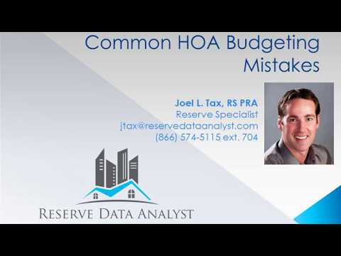 Common HOA Mistakes in Budgeting for the Reserve Account