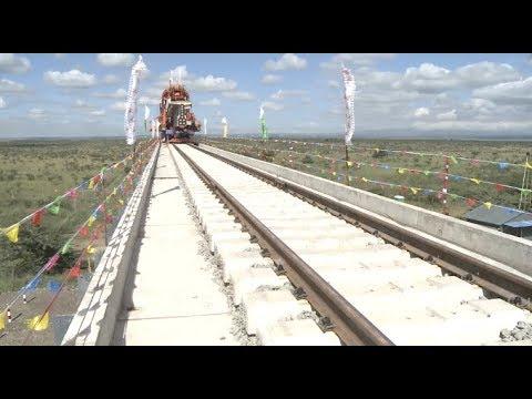 Kenyan President Visits Nairobi-Naivasha Railway Extension thumbnail