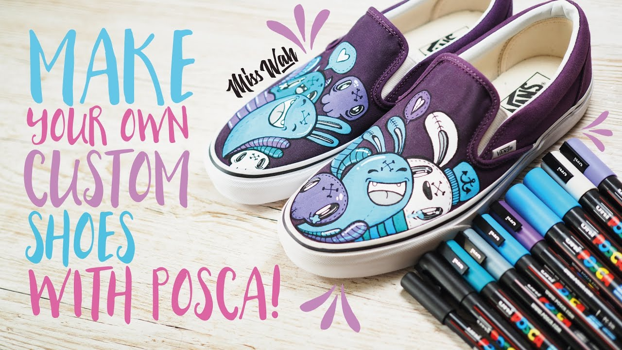 0190d33ff44cb2 Make Your Own Custom Shoes! - With Uniball Posca Pens  Cute Vans ...