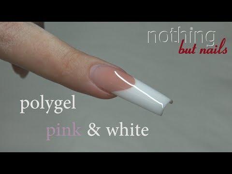polygel wie ACRYL gel pink & white Meisterschaftsnagel