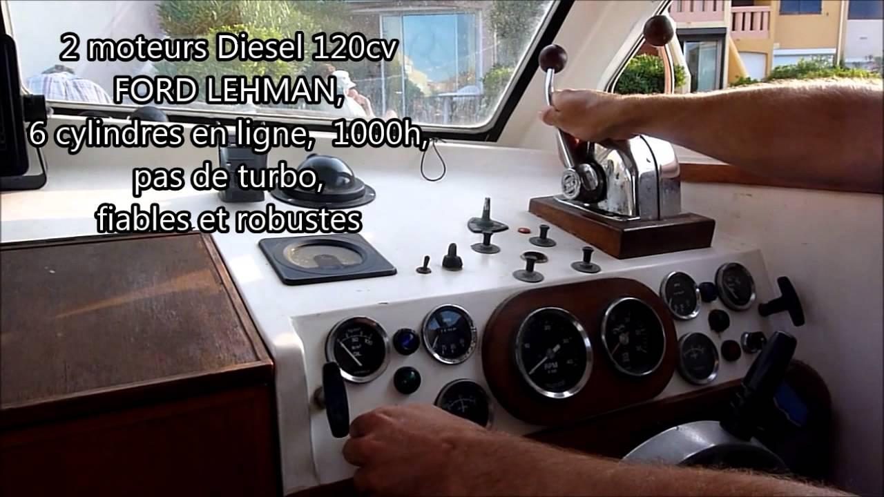 A Vendre Aquastar 26 2 Moteurs 120cv Diesel