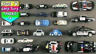 Police Vehicles For Kids Children   Police Cars Ambulance Police Bus Police Jeep   Kids TV Videos
