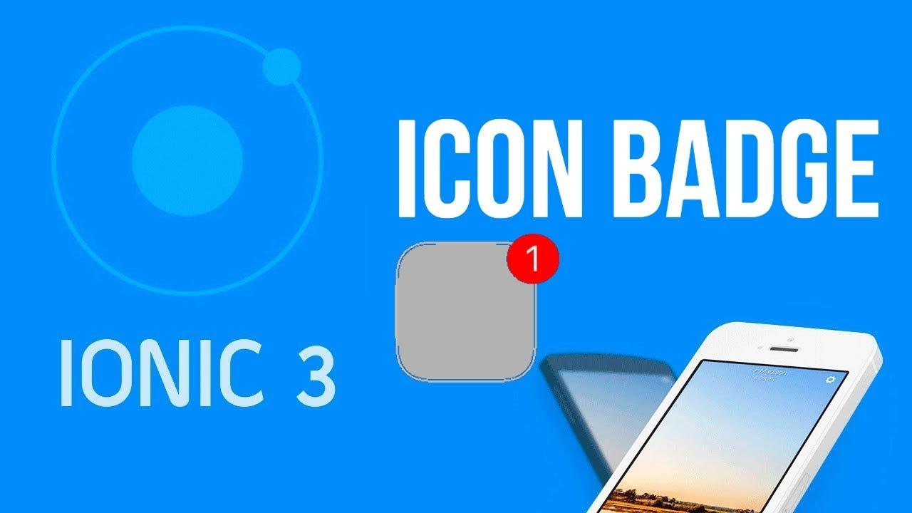 Ionic 3 Tutorial #28 App Badge