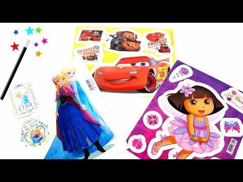 Frozen Dora The Cars Mc Queen,Cars Toon magic stickers  box decorating