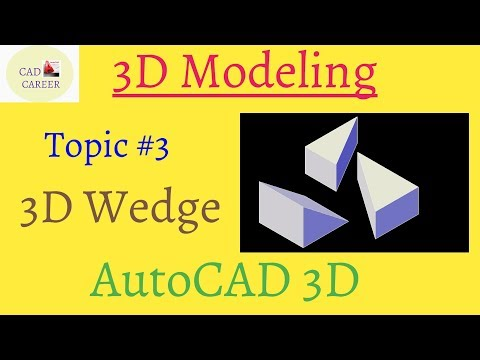 AutoCAD 3D modeling Wedge command | using wedge command in Autocad | Wedgw command in Autocad 3D