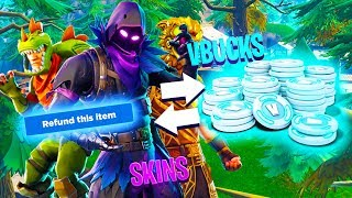 Trade OLD SKINS for VBUCKS! (NEW FORTNITE FEATURE)