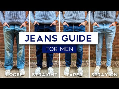 Men's Jeans Fit Guide | The Best Style Jeans For Your Physique. http://bit.ly/2zwnQ1x