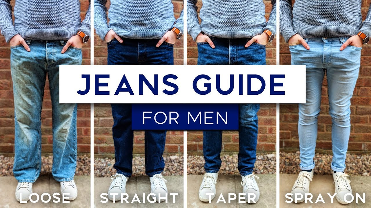 Men S Jeans Fit Guide The Best Style Jeans For Your Physique Youtube