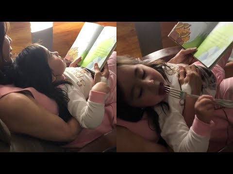 Scarlet Snow Belo Bonding with Mommy While Eating STEAK!