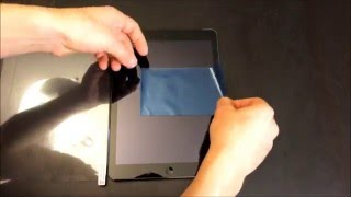 How to install large screen protector on iPad or Tablet