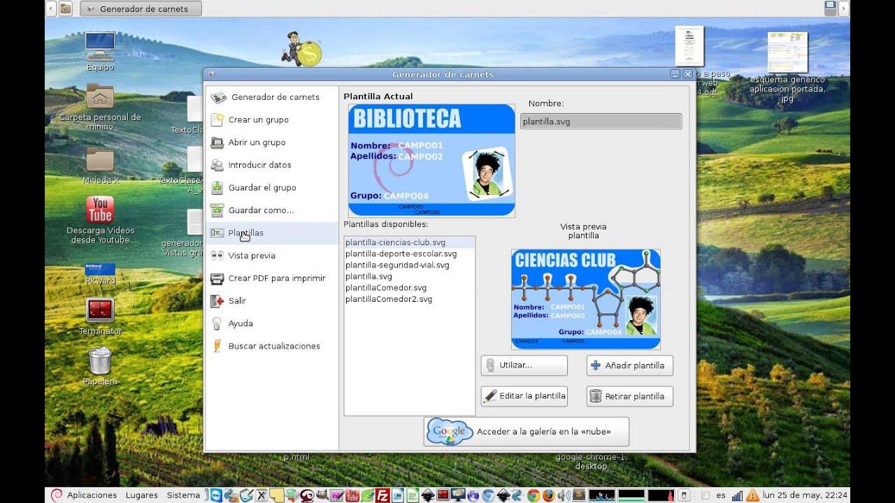 Generador de Carnet: Crear nuevas plantillas de carnets - YouTube
