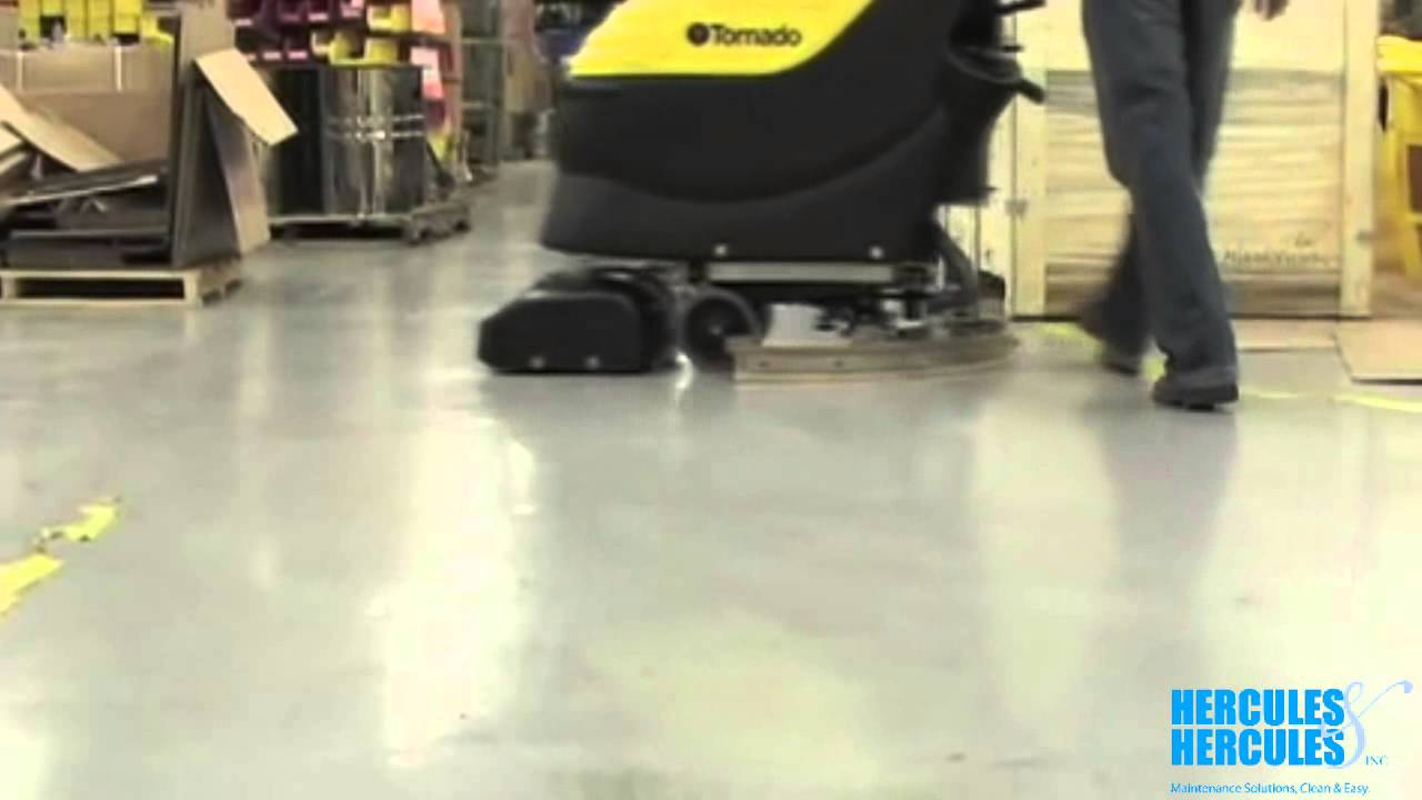 Using an Automatic Floor Scrubber  Floor Cleaning