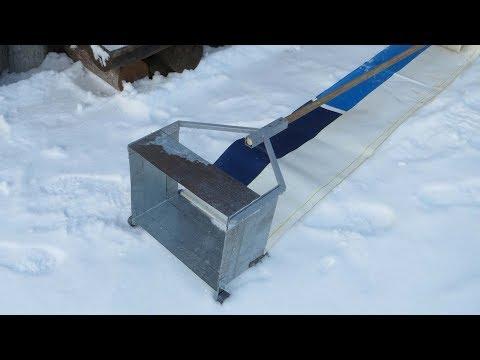 Лопата для снега на крыше своими руками