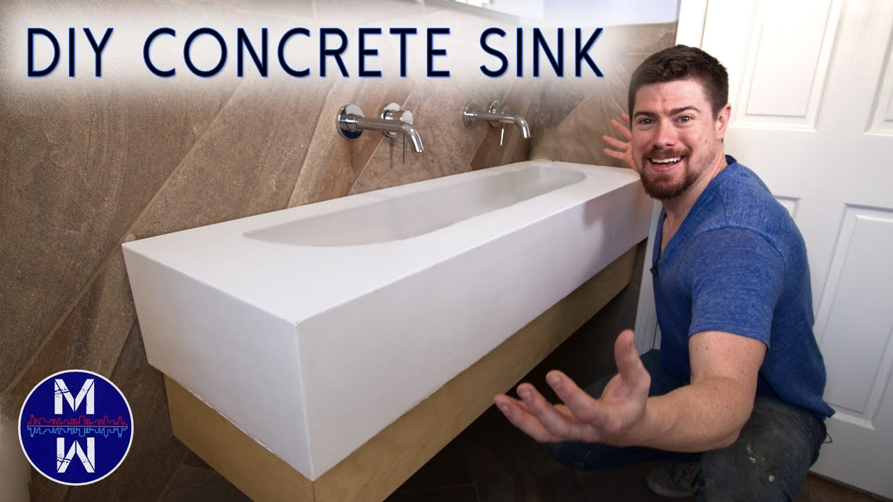 Diy Concrete Sink Countertop Ll Small