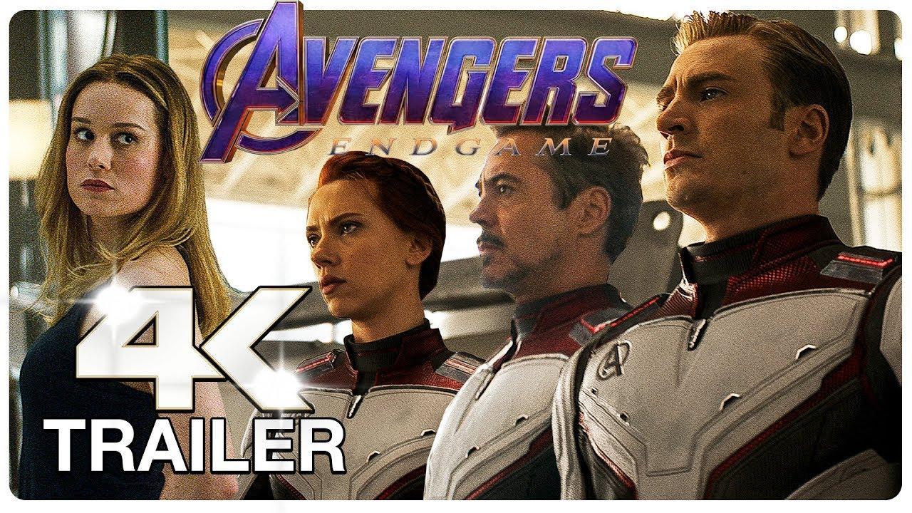 AVENGERS 4 ENDGAME Final Trailer (4K ULTRA HD) NEW 2019