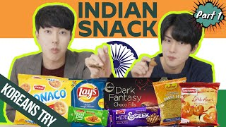 ULTIMATE INDIAN SNACK HAUL! | KOREAN REACTION | PART 1