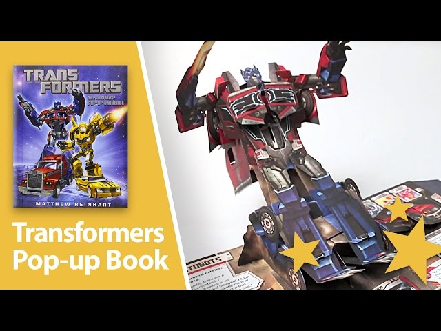 Impressive Transformers Pop-up book. Real paper transformations!