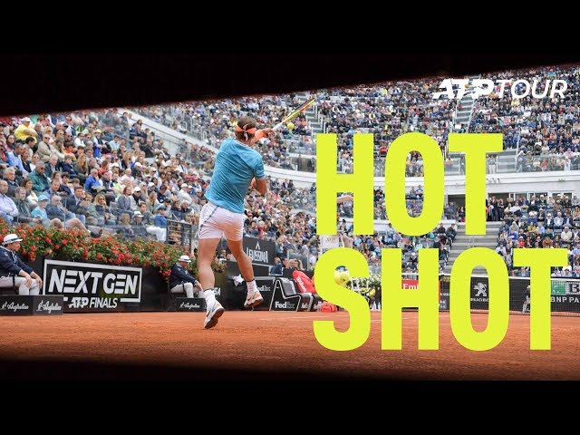 Hot Shot: Nadal Stuns Tsitsipas With Fiery Forehand | Rome 2019