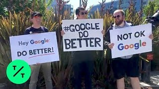 Google Workers Protest Outside Alphabet Shareholder Meeting