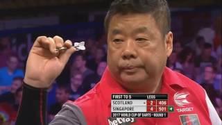 Video HUGE UPSET! PDC World Cup of Darts 2017- Singapore beats Scotland highlights download MP3, 3GP, MP4, WEBM, AVI, FLV Desember 2017