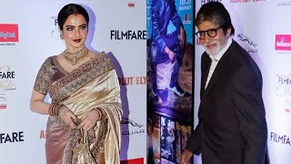 Repeat youtube video Did Rekha leave the red carpet for Amitabh Bachchan at a style awards?