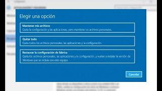 Cómo formatear Windows 10 FÁCIL!! - En menos de 3 mins