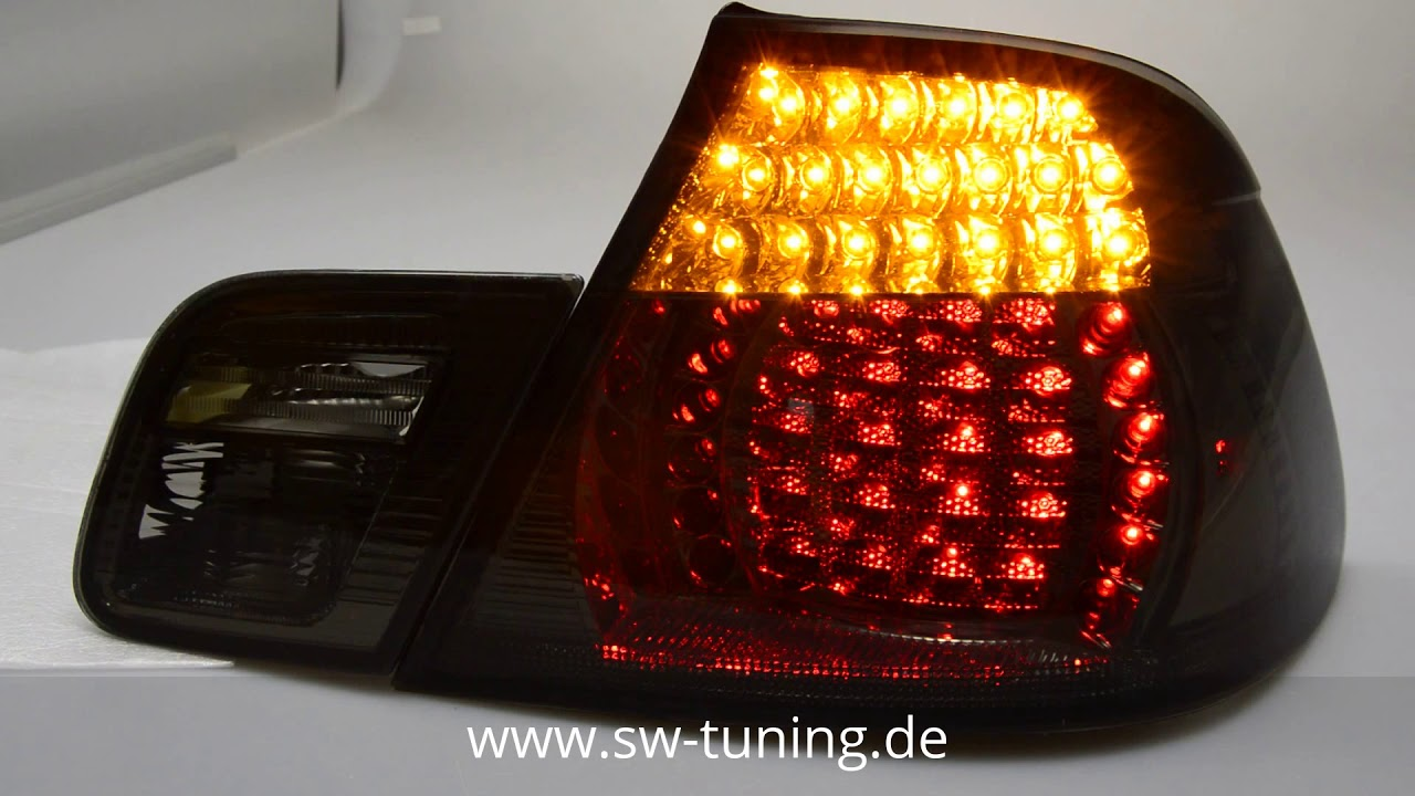 ALL SMOKED LED REAR TAIL LIGHTS LAMPS FOR E46 3 SERIES CONVERTIBLE CABRIO