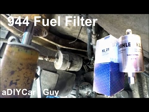 20 year old fuel filter! porsche 944 fuel filter replacement - last changed  in 1995