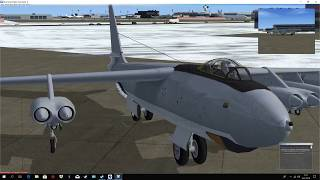 FSX: Boeing B-47 Stratojet flight from New York to Boston Pilot Peku