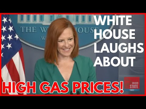 OUT OF TOUCH: Biden's Press Secretary LAUGHS When asked about High Gas Prices at Press Briefing