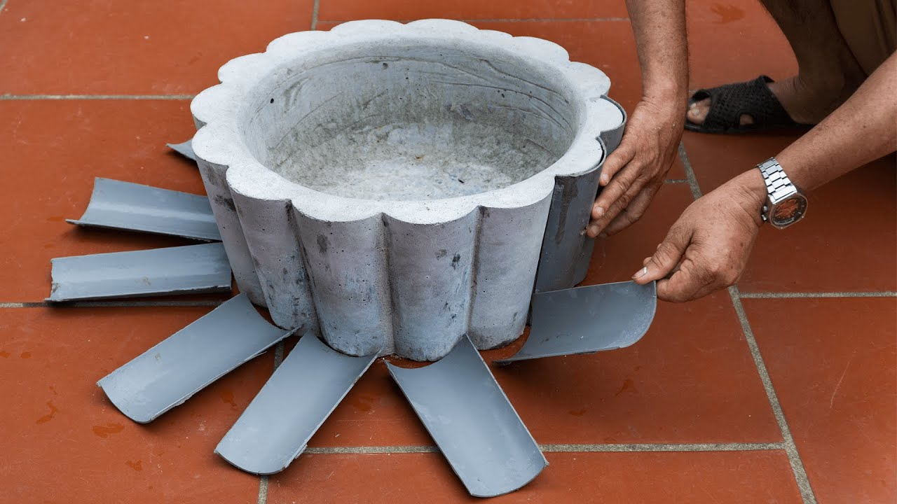 DIY Unique Cement Pots #2: Using PVC Pipe for Mold | Very Simple and cheap!