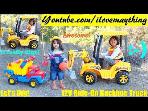 Kids' Toy TRUCKS: Construction Workers Pretend Play. Power W