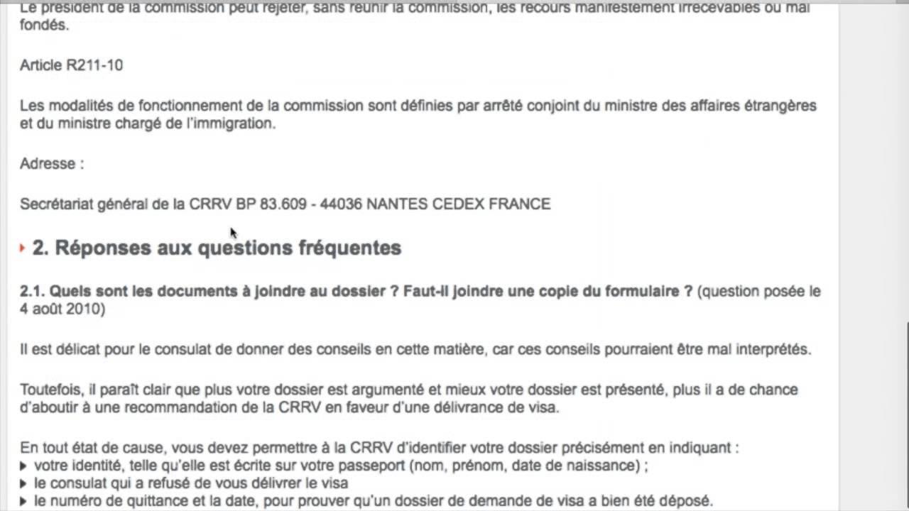 exemples de mod u00e8les  lettre recours refus visa court sejour