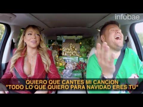 """""""All I want for Christmas"""" Carpool Karaoke subtítulos en español"""