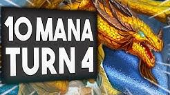 10 MANA on TURN 4 is UNFAIR! | OTK Paladin | Nozdormu the Timeless | Descent of Dragons Hearthstone