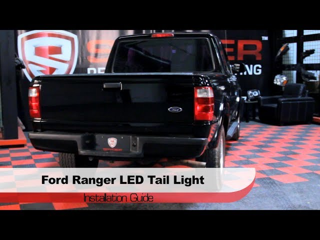spyder auto installation 2001 05 ford ranger led tail lights youtube 05 ford ranger led tail lights