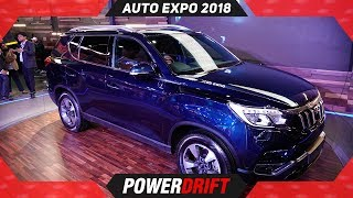 2018 Mahindra Rexton @ Auto Expo : The Fortuner Killer : PowerDrift