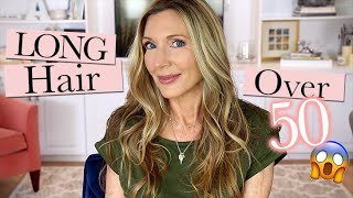 LONG Hair Over 50 | My Hair Care Routine!